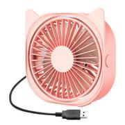 Mini Desk Fan Quiet 3 Speed Portable Fan Desk 360 Degree Rotation Fan for Student Bed USB Powered Travel Camping Office Home Desk Fan