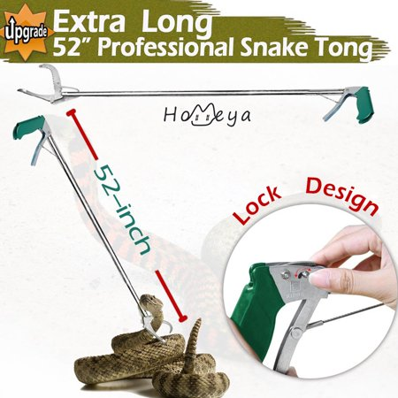 52'' Snake Tong,homeya 52 inch Heavy Duty Professional Grabber Collapsible Snake Hook Best Tool Set for Moving Rattle Snake Corn Snake Kingsnakes Lizard