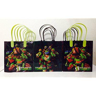 ninja turtles party favor goodie small gift bags 12 - Ninja Turtles Favors