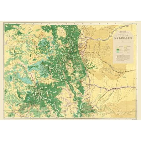 Old Topographical Map Print   Colorado Colorado Economic   Usgs 1881   23 X 32 68