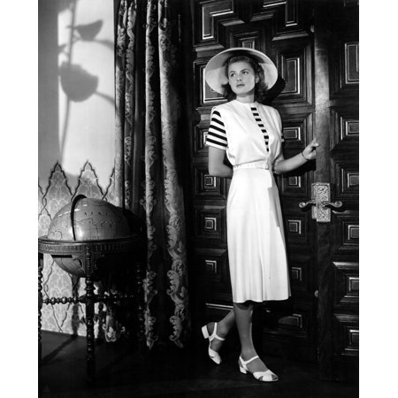 Casablanca Ingrid Bergman Wearing A Jumper Dress Designed By Orry Kelly 1942 Photo Print