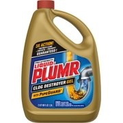 Liquid-Plumr Pro-Strength Full Clog Destroyer Plus PipeGuard, 80 Ounces