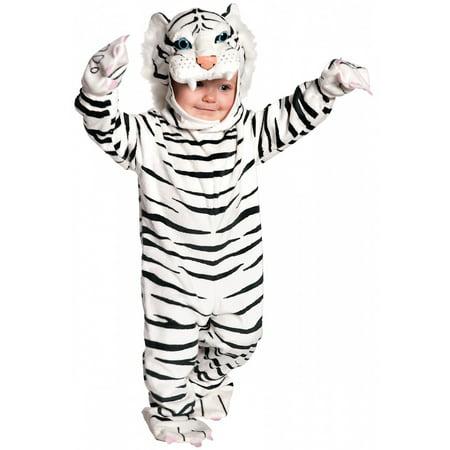 Tiger Toddler Costume Black White - X-Large (White Tiger Toddler Costume)