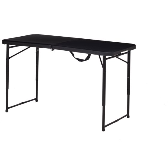 Table Walmart: Mainstays Adjustable Folding Table, Black, Set Of 2