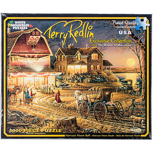 "Terry Redlin Harvest Moon Ball Jigsaw Puzzle, 1000 Pieces, 24"" x 30"""