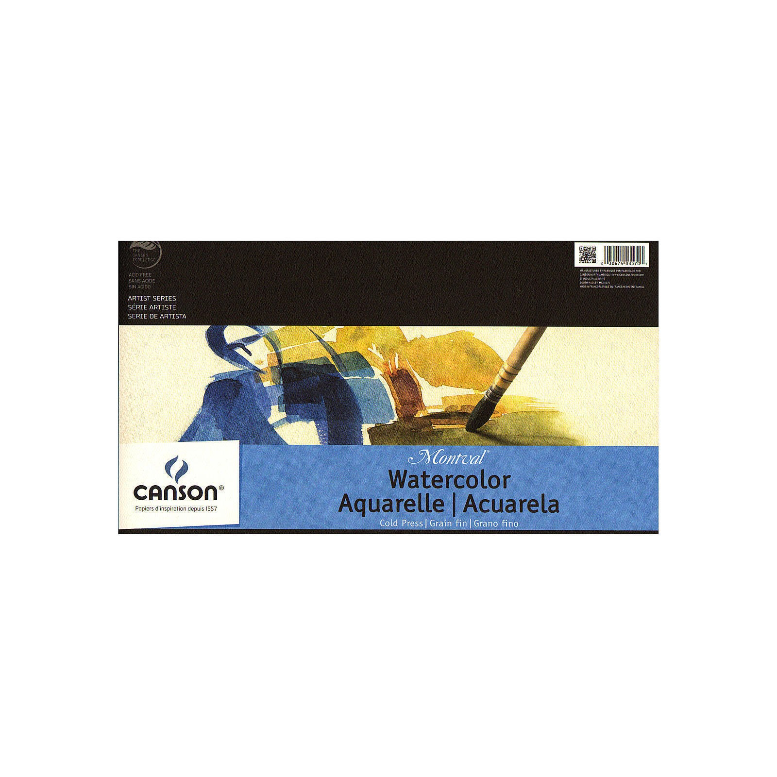 Montval Watercolor Paper 10 in. x 15 in., pad of 12 tape bound, 140 lb. cold press (pack of 2)
