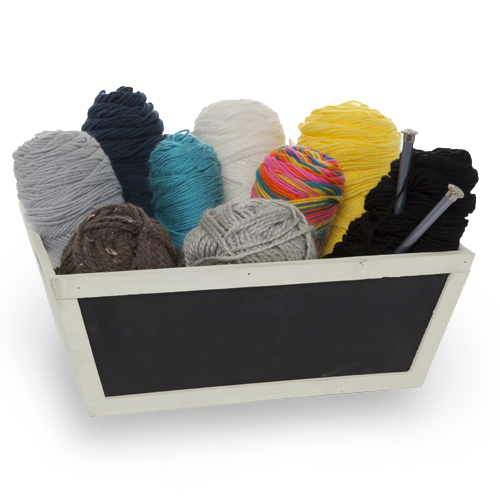 Wooden Utility Chalkboard Basket - Small 15in