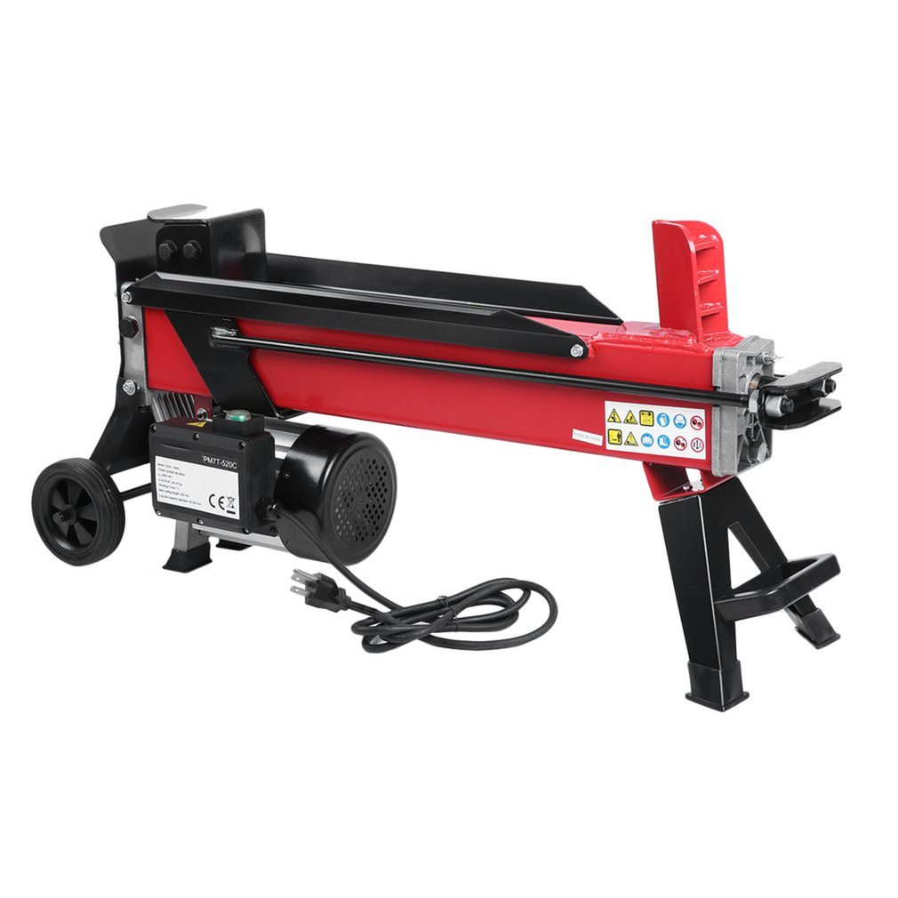 110V Electric Hydraulic Log Splitter 7 Ton Powerful Firewood Chopping Machine