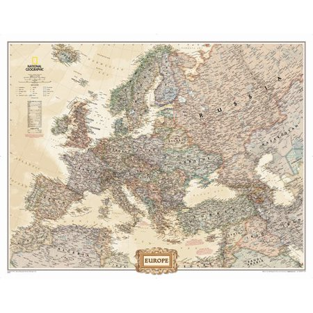 National Geographic Maps Europe Executive Mural Map