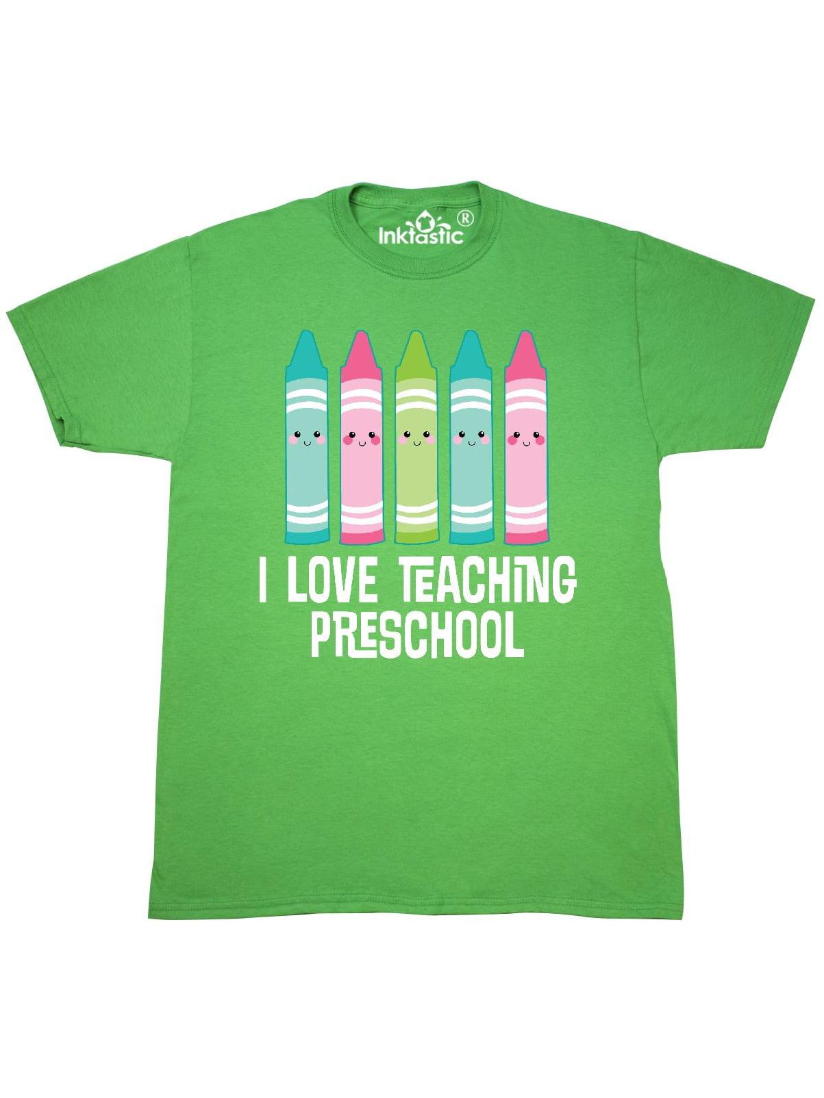 9b1b7730 Inktastic - I love Teaching Preschool Teacher Gift T-Shirt - Walmart.com
