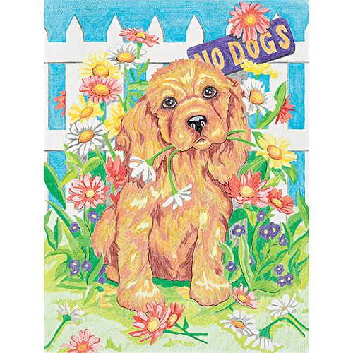 Dimensions Naughty Puppy Pencil by Number Kit