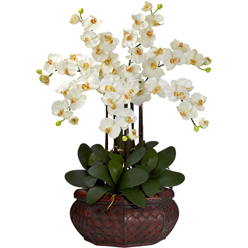 Large Phalaenopsis Silk Flower Arrangement, Cream