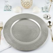 """Efavormart 6 pcs 13"""" Round Charger Plates Dinner Chargers for Tabletop Decor Holiday Wedding Catering Event Decoration"""