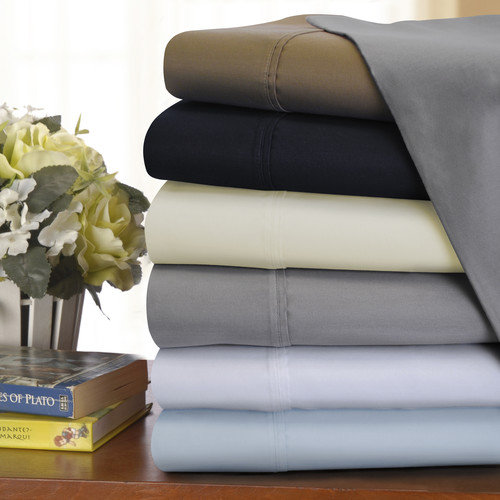 1200 Thread Count Cotton-Blend Solid Sheet Set by Impressions