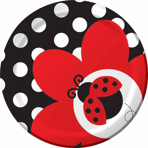 "Creative Converting Ladybug Fancy 7"" Dessert Plates, 8pk"