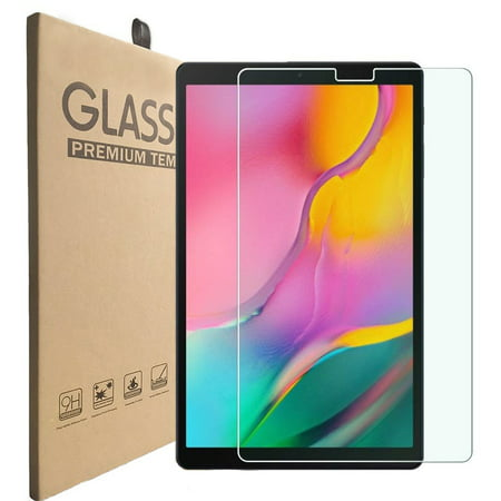 Galaxy Tab A 10.1 (2019) T515/T510 Screen Protector by KIQ Tempered Glass Shield Anti-scratch self-adhere bubble-free For Samsung Galaxy Tab A 10.1-inch 2019 SM-T510