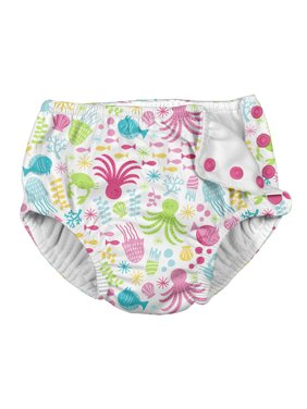 i play. Baby Toddler Girl Snap Reusable Absorbent Swimsuit Diaper