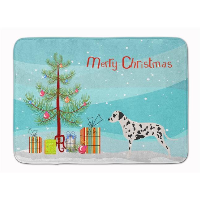 Carolines Treasures BB2901RUG Dalmatian Merry Christmas Tree Machine Washable Memory Foam Mat - image 1 of 1