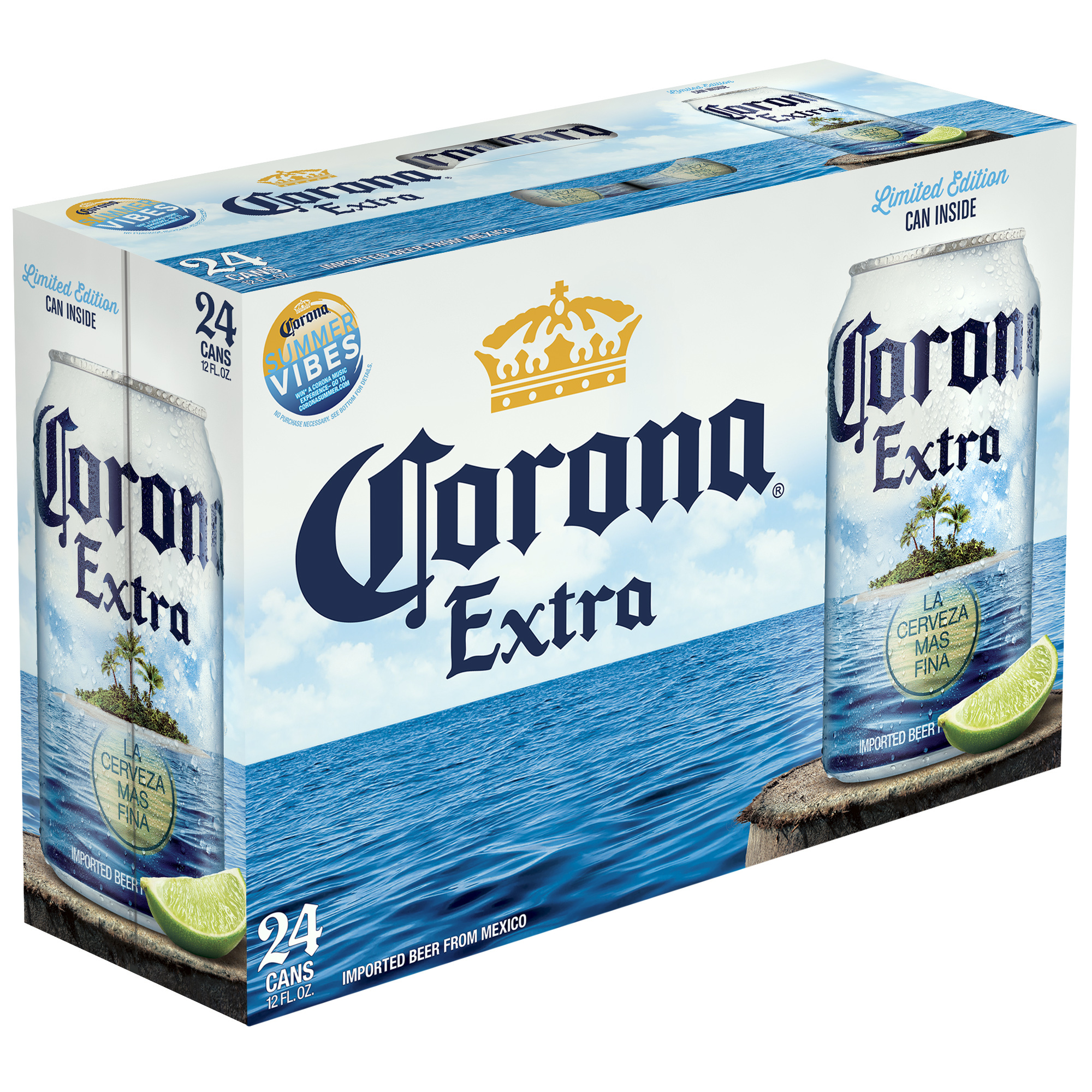 Corona Extra Beer, 12 fl oz, 24 Pack