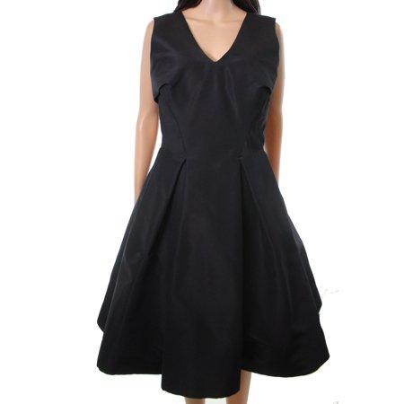 - Zac Posen Women's A-Line Silk Pleated V-Neck Dress