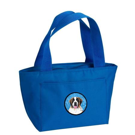 Blue Saint Bernard Lunch Bag or Doggie Bag SC9129BU