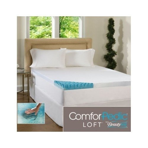 Beautyrest 4 Inch Sculpted Gel Memory Foam Mattress Topper