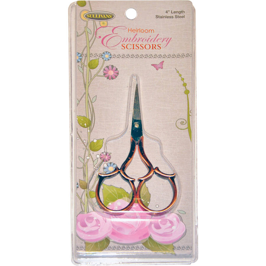 "Heirloom Embroidery Scissors Leaf Handle, 4"", Copper"