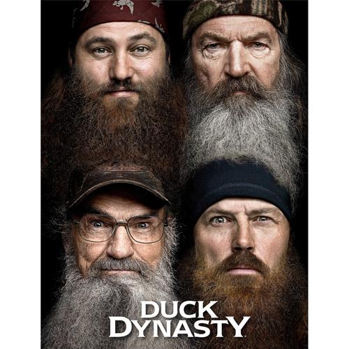 """Duck Dynasty 46"""" x 60"""" """"Four Faces"""" Polar Fleece Throw"""