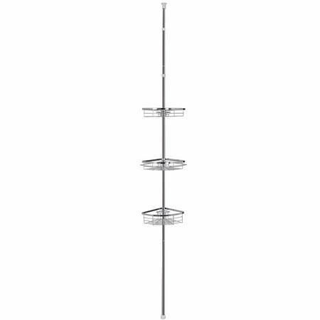 Lifewit 3 Tier Corner Shower Caddy Adjustable Bathroom Corner Pole ...