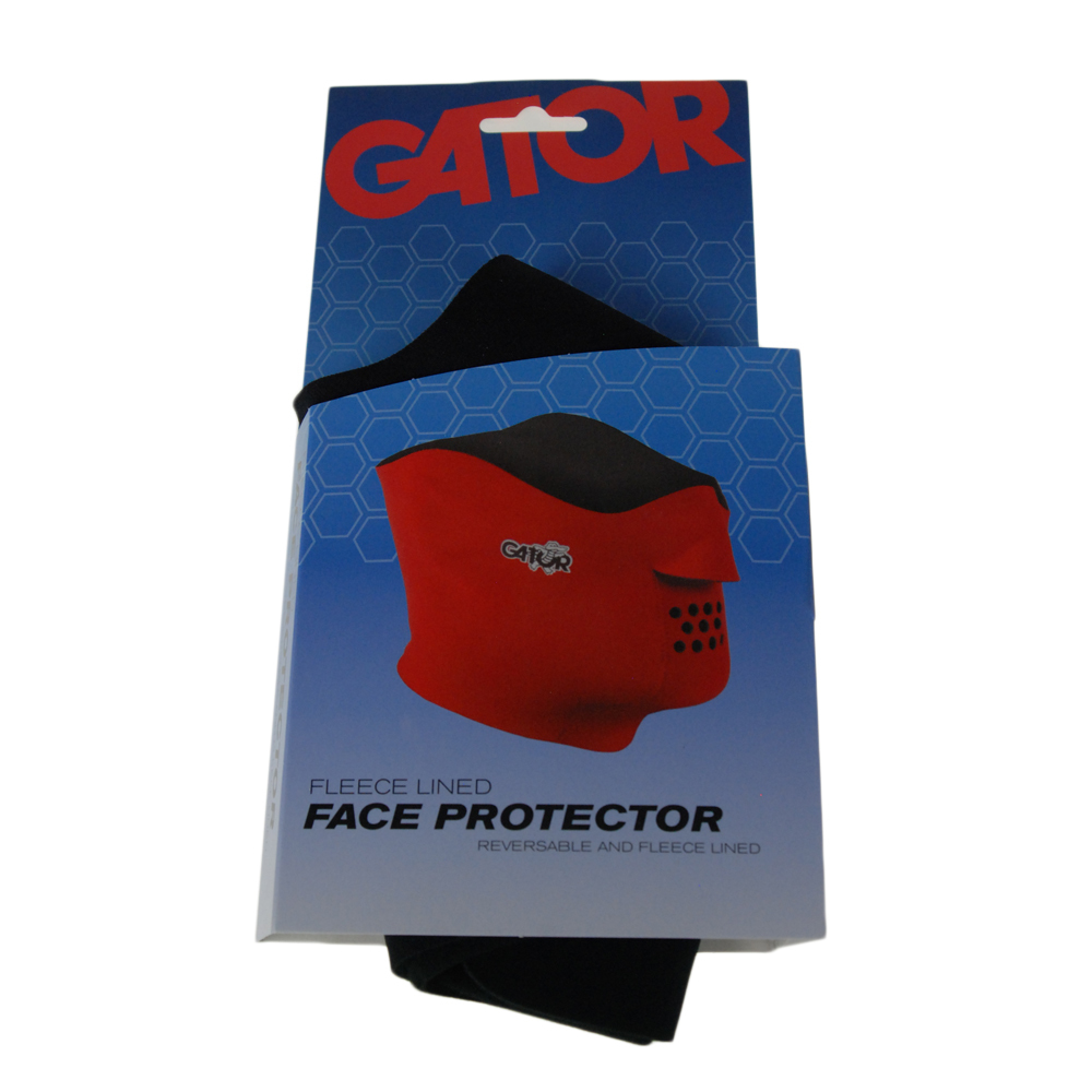 Gator Fleece Lined Face Protector Large Black