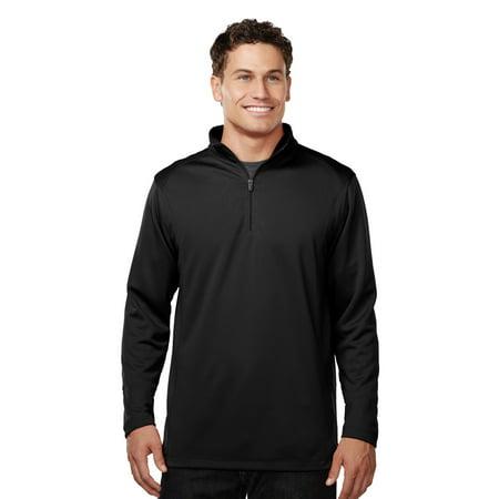 1/4 Zip Performance Pullover - Tri-Mountain Performance Clementon K628 1/4 Zip Pullover Shirt, Large, Black