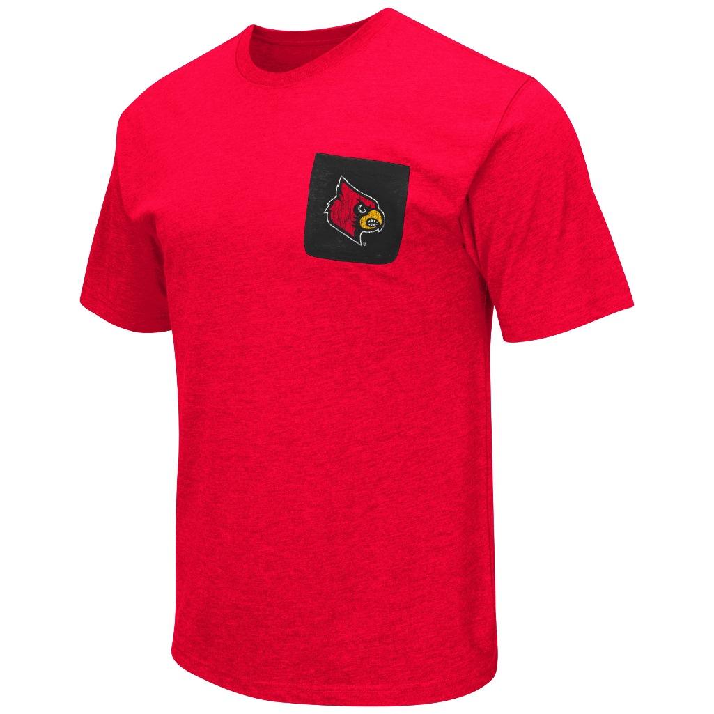 """Louisville Cardinals NCAA """"Banya"""" Men's Dual Blend S/S Pocket T-Shirt"""