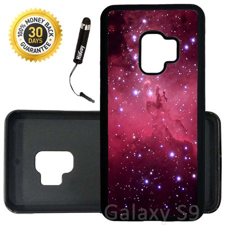 Custom Galaxy S9 Case (Red Eagle Nebula) Edge-to-Edge Rubber Black Cover Ultra Slim   Lightweight   Includes Stylus Pen by Innosub Aa Red Rubber Light