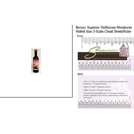 Dollhouse Miniature Gourmet Steak Sauce W 3 Scale Wallet Ruler