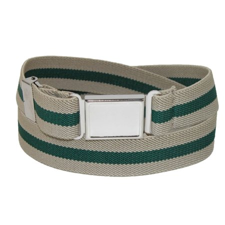 CTM Kids' Elastic Striped Belt with Magnetic Buckle - image 2 of 2