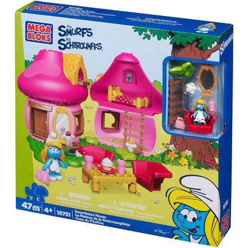 Mega Bloks Smurfs Smurfette's House Play Set