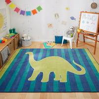 Mohawk Home Kids Interactive Friendly Dinosaur Printed Area Rug