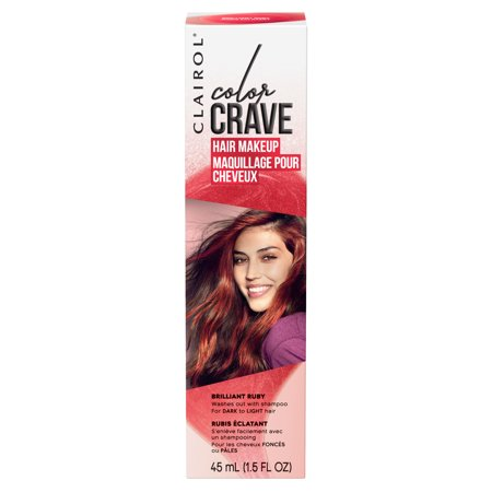 Clairol Color Crave Temporary Hair Makeup,Brilliant Ruby - Silver Hair Paint