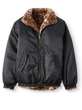 bba60ab7ecbfd5 Product Image BHIP Reversible Leopard Faux Fur Bomber Jacket (Little Girls    Big Girls)