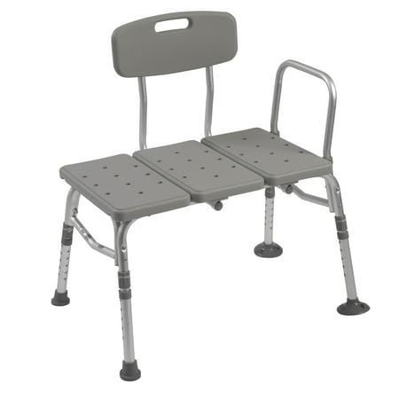 Drive Medical Plastic Tub Transfer Bench with Adjustable Backrest ...
