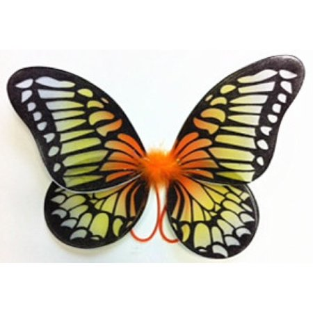 Kids Neon Orange/Yellow Gradient Black Butterfly -