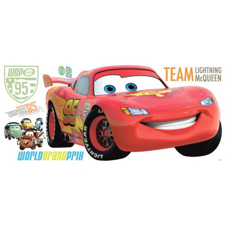 Two Murals (Disney Cars 2 Giant LIGHTNING MCQUEEN Wall Decals Stickers Mural Room)