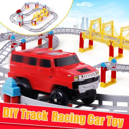 Two-Layers DIY Electric Rail Car Toy Racing Track for Kids Birthday Christmas Halloween Gift - Diy Christmas Gifts For Kids