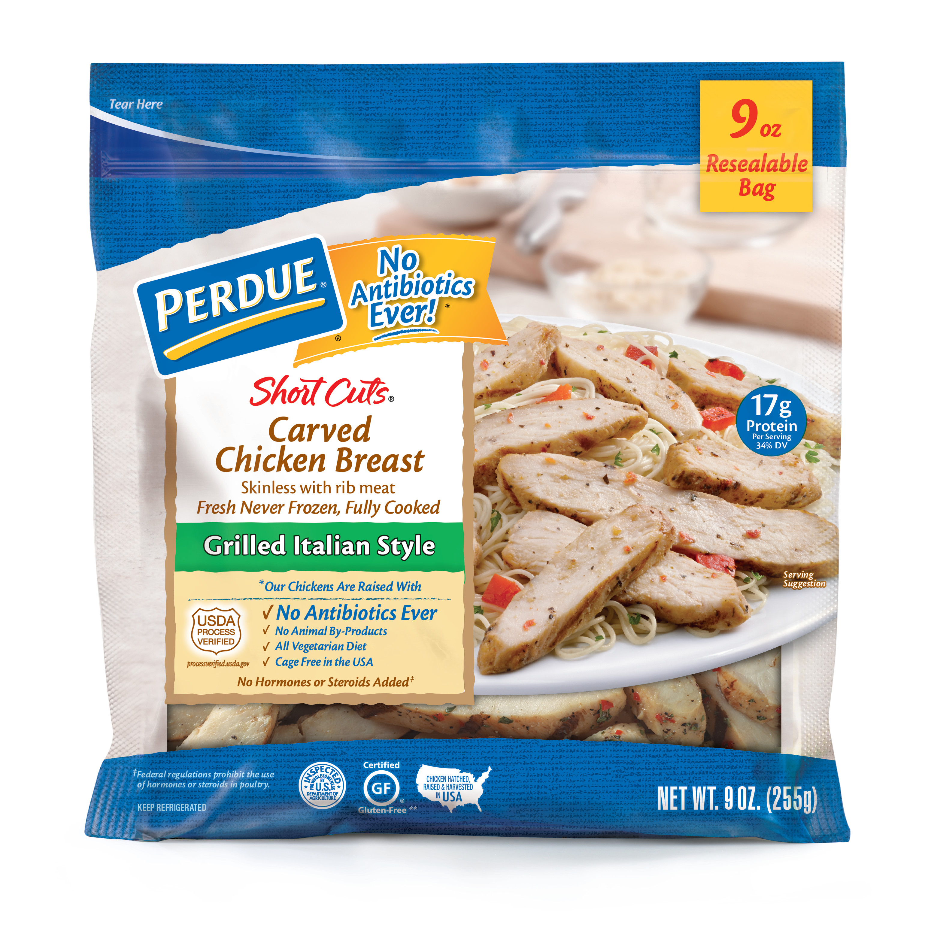 PERDUE SHORT CUTS Carved Chicken Breast Grilled Italian Style (9 oz.)