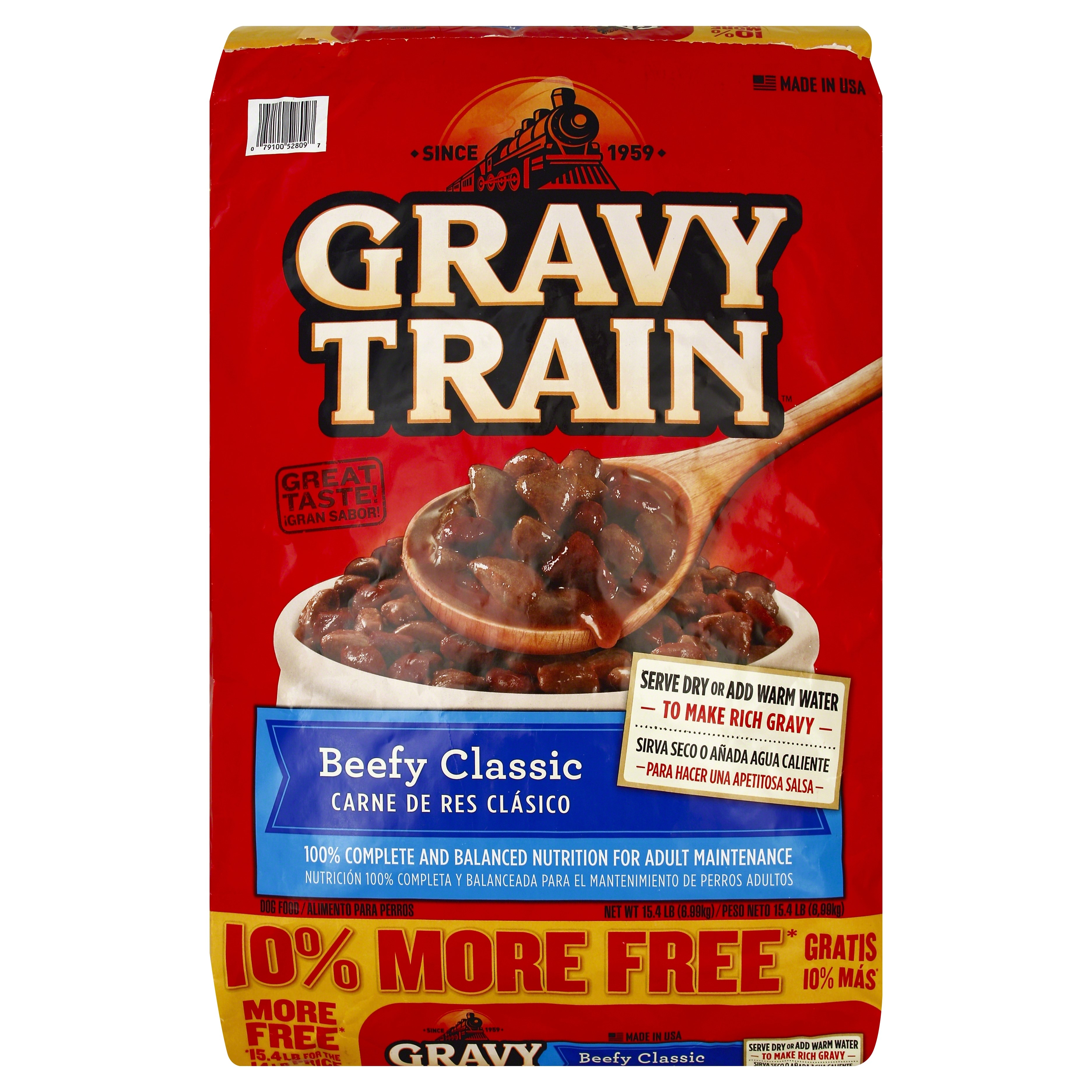 Gravy Train Beef Classic Bonus Dry Dog Food, 15.4 Lb