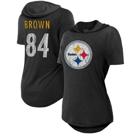 Antonio Brown Pittsburgh Steelers Majestic Threads Women s Hilo Name    Number Hooded T-Shirt - Black - Walmart.com d3050adb7