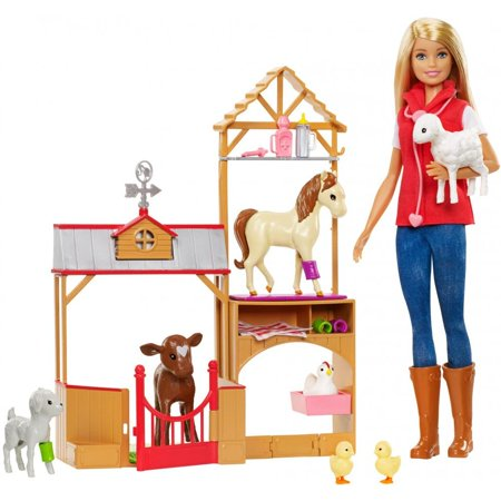 Barbie Sweet Orchard Farm Doll & Vet Playset, Blonde