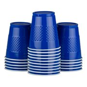 JAM Plastic Cups, 12 oz, Blue, 20/Pack