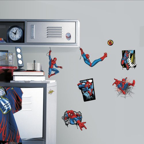 Ultimate Spider-Man Comic Peel and Stick Wall Decals & Ultimate Spider-Man Comic Peel and Stick Wall Decals - Walmart.com