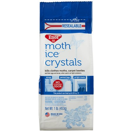 Enoz Moth Ice Crystals Moth Killer for Clothes Moths & Carpet Beetles Resealable 16